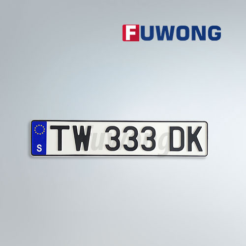 European Swiss registration plate