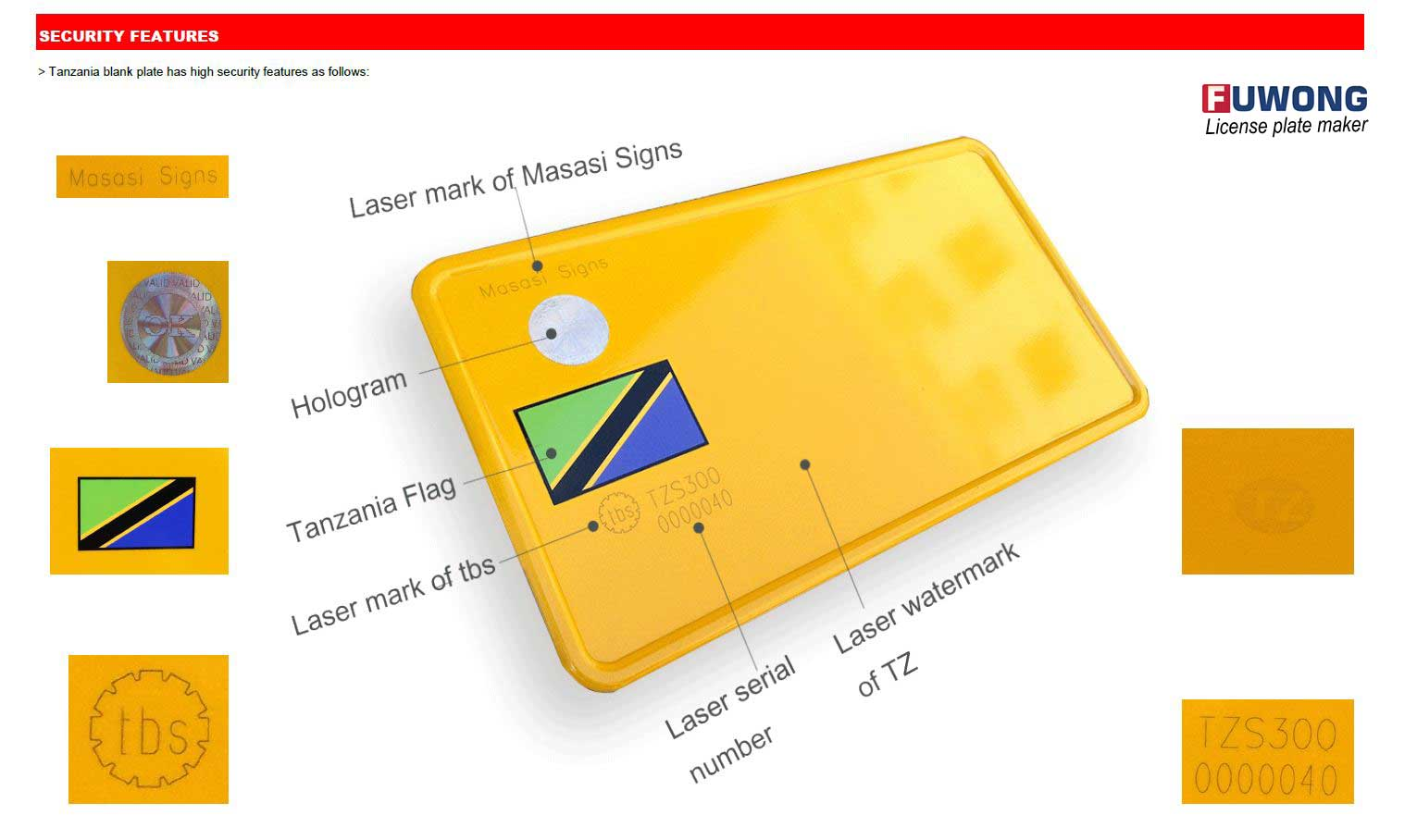 Masasi license plate for Tanzania license plate