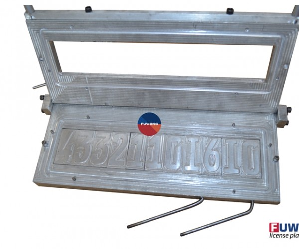 Number plate molds