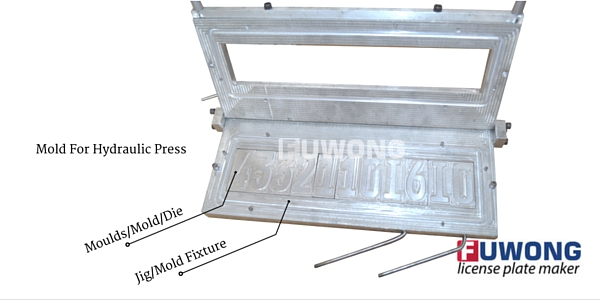Fuwong mold for license plate embossing press