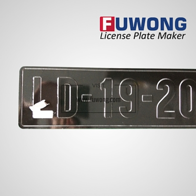 license plate 2-layer