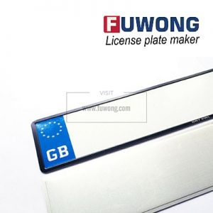 GB 2-layer license plate