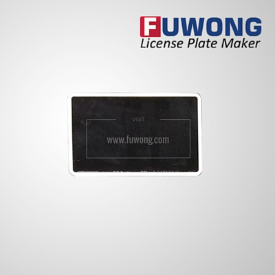 Fuwong motorcycle license plate