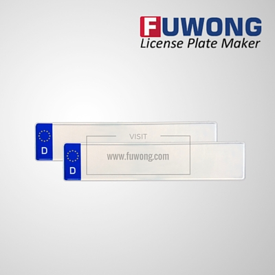 Germany D license plate blank