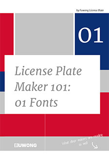 About license plate maker 101 questions