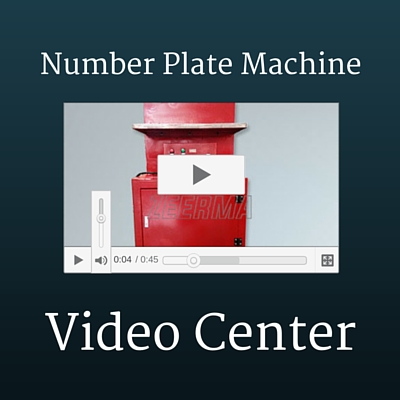 Guide video of license plate makers