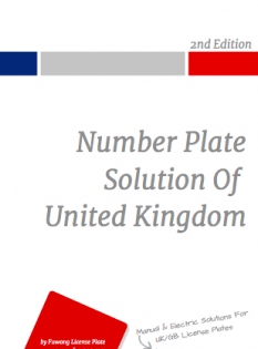 UK reg plate case study for makers