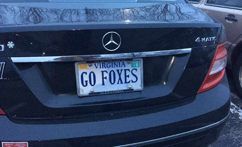 GO FOXES ON A MERDECAS PLATE