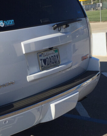I LOVER DADDY CAR PLATE