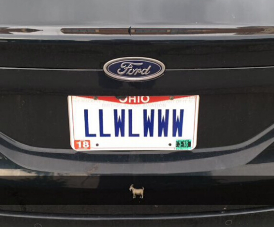 """vanity plate Cleveland license plate: """"Warriors blew a 3-1 lead"""""""
