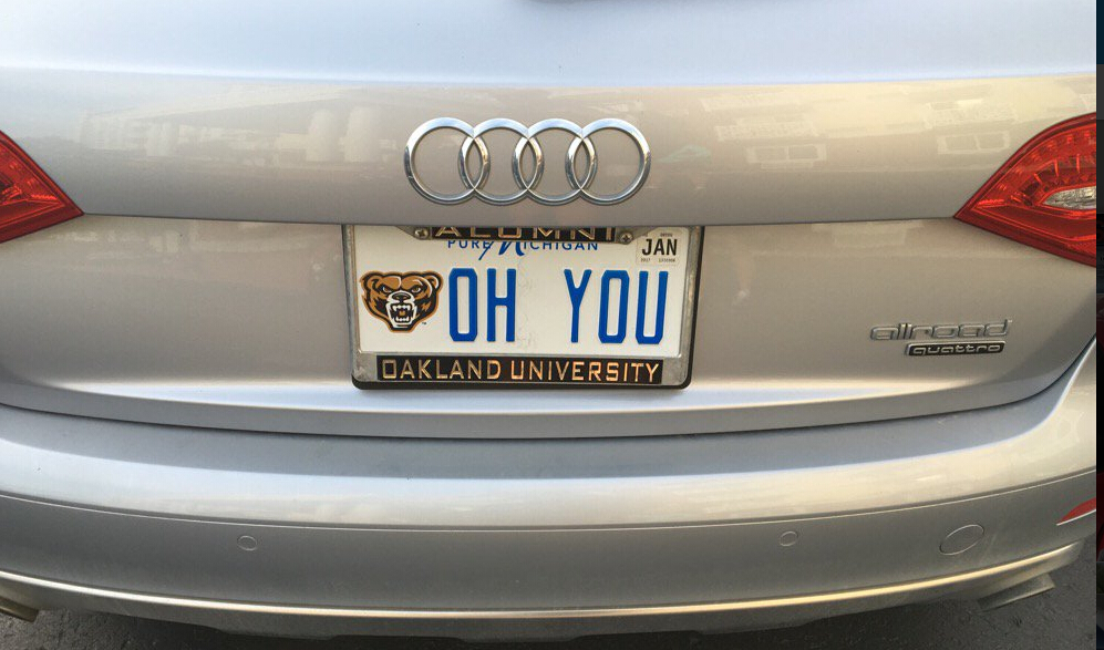OH YOU university plate