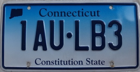 Connecticut car license plate