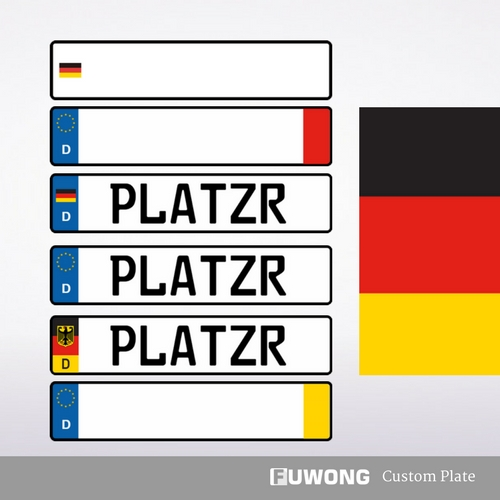 Custom German License Plate For Sale Fuwong Front License Plate