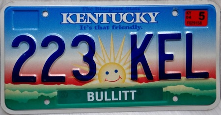 Colorful Kentucky license plate