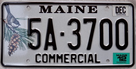 Maine license plate design of American state