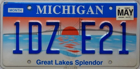 Michigan license plate description