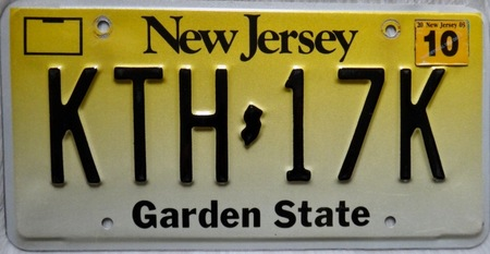 New Jersey Garden state license plate design