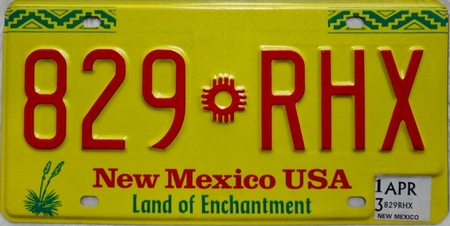 New Mexico license plate design