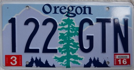 Shasta red fir of Oregon license plate