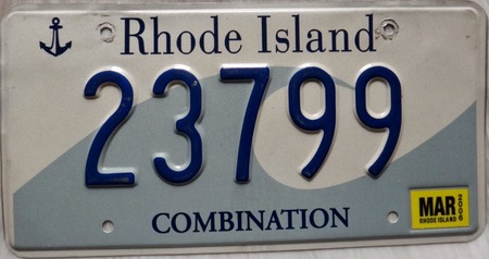 Rhode Island license plate design