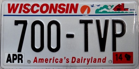 Wisconsin us licence plates