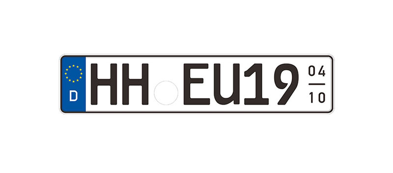 Car license plate of Germany