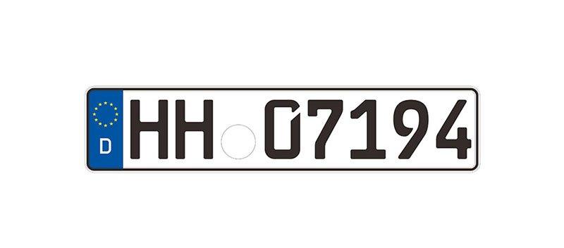 German vintage license plate