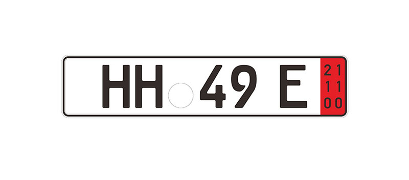 Export license plate in Germany